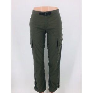 Mountain Hardwear Green Belted Pants